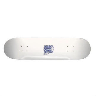Blue poker chips skateboard deck