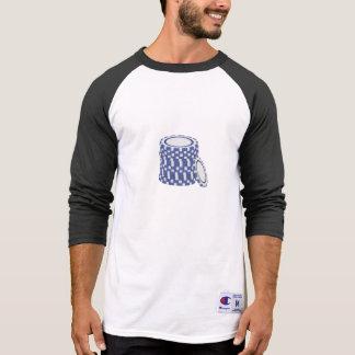Blue poker chips tee shirt