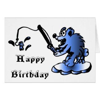 Blue Polar Bear Birthday Card