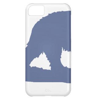 Blue Polar Bear Silhouette Case For iPhone 5C