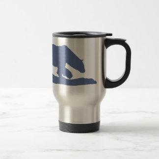 Blue Polar Bear Silhouette Coffee Mugs