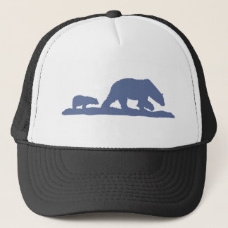 Blue Polar Bear Silhouette Trucker Hat