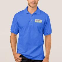 Blue pole anagram polo shirt