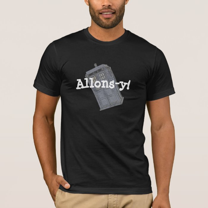 Blue Police Box Allons-y T-Shirt