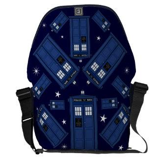 Blue Police Box Bag - Geek Classic SciFi Stars Messenger Bags