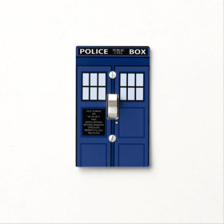 Blue Police Box Call for Light Geek public Light Switch Cover