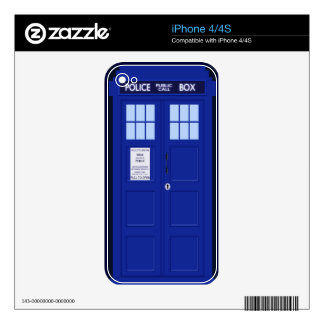 blue police box iphone 4/4s skin