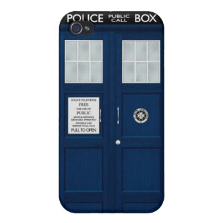 Blue Police Box iPhone 4 Cases