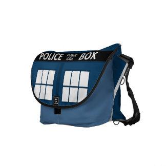 Blue Police Box Medium Messenger Bag