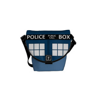 Blue Police Box Mini Messenger Bag
