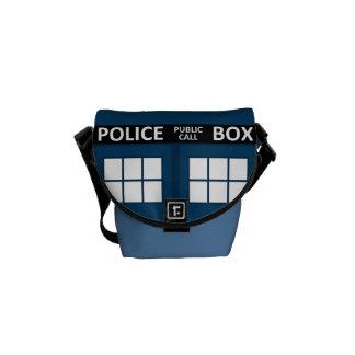 Blue Police Box Mini Messenger Bag