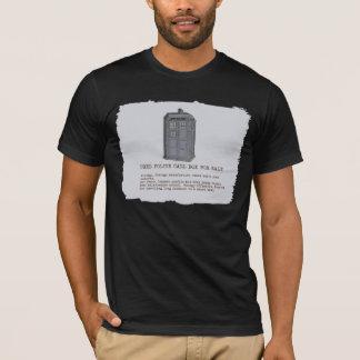 Blue Police Call Box Parody T-Shirt