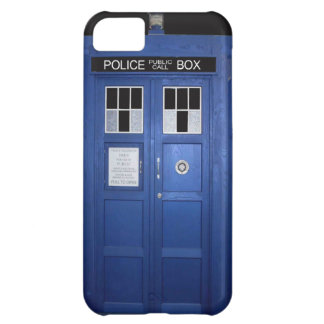 Blue Police Call Box (photo) iPhone 5C Cover