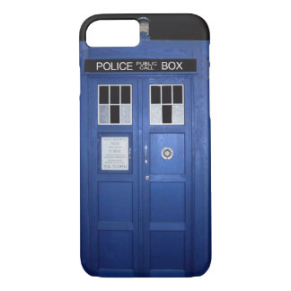 Blue Police Call Box (photo) iPhone 7 Case