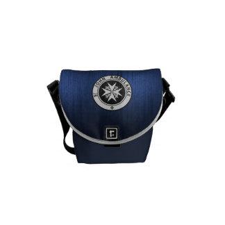 Blue Police Call Box Purse Courier Bag