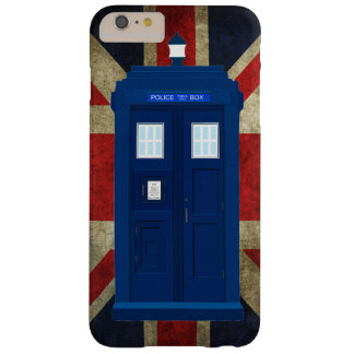 Blue police call box with Union Jack Flag Barely There iPhone 6 Plus Case