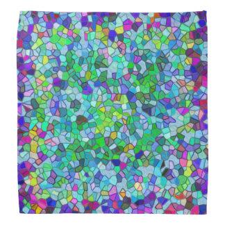 Blue Polished Pebble Mosaic Bandana