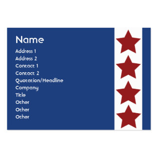 Blue Political - Chubby Large Business Card