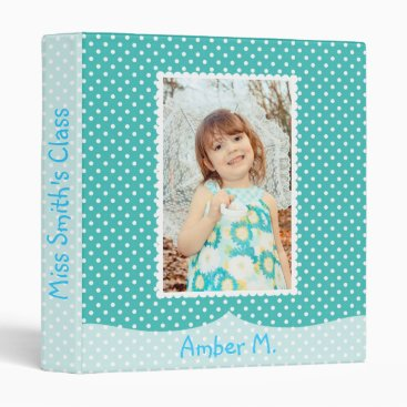 Toddler & Baby themed Blue Polka Dot Baby Album Binder