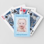 Blue Polka Dot Baby Boy Photo Template Bicycle Playing Cards