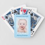 Blue Polka Dot Baby Boy Photo Template Card Deck