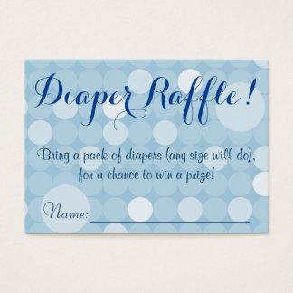Blue Polka Dot Baby Shower Diaper Raffle Tickets