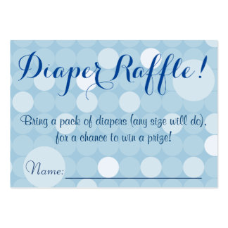 Blue Polka Dot Baby Shower Diaper Raffle Tickets Large Business Cards (Pack Of 100)