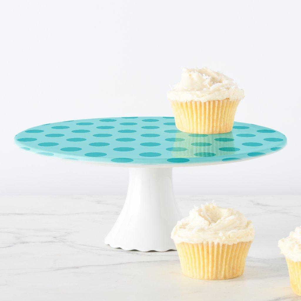 Blue Polka Dot Cake Stand