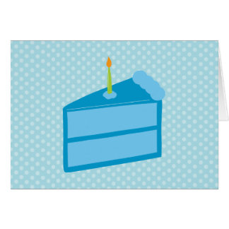 Blue Polka Dot Cake Thank You Cards Note Card