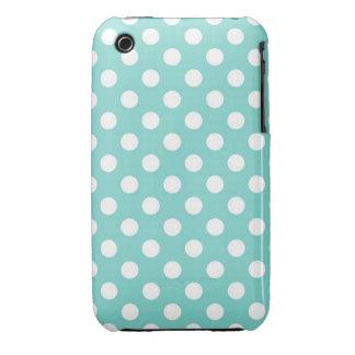 Blue Polka Dot iPhone 3 Covers
