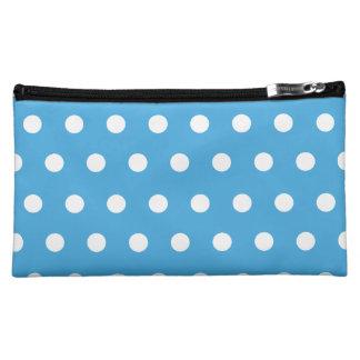 Blue Polka Dot Cosmetic Bag