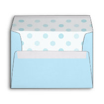 Blue Polka Dot Envelope A7