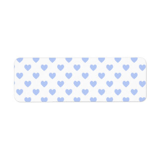 Blue Polka Dot Hearts Label