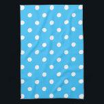 "Blue Polka Dot Kitchen Towel<br><div class=""desc"">Blue polka dot kitchen towel</div>"