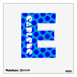 Blue Polka Dot Letter E Room Stickers