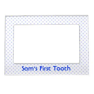 Blue Polka Dot Magnetic Frame