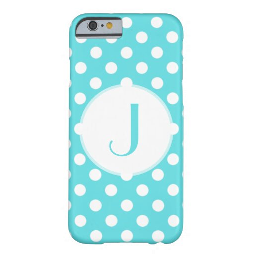 Blue Polka-Dot Monogrammed iPhone 6 Case