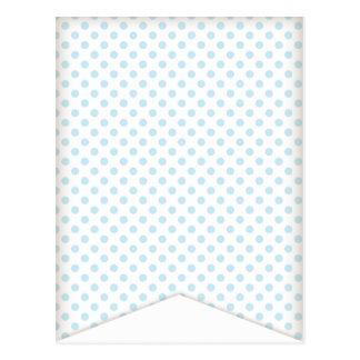 Blue Polka Dot Party Flag Bunting Banner Post Card