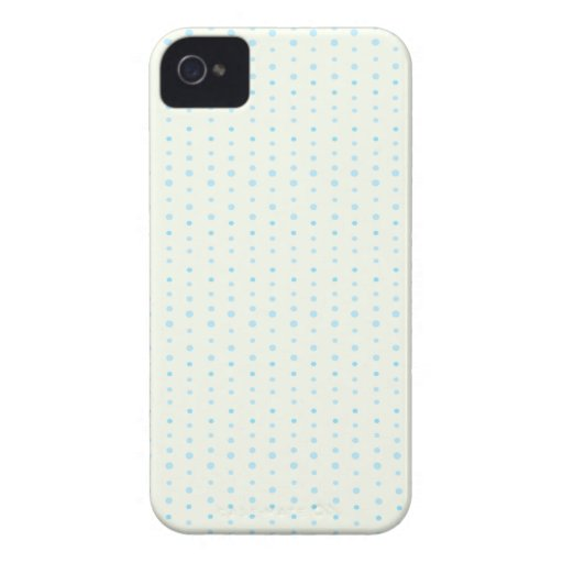 Blue Polka-dot Pattern Case-Mate iPhone 4 Cases