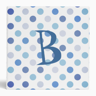 Blue Polka Dot School Binder