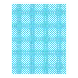 Blue Polka Dot Scrapbook Paper Letterhead