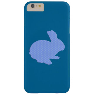 Blue Polka Dot Silhouette Bunny iPhone 6 Case