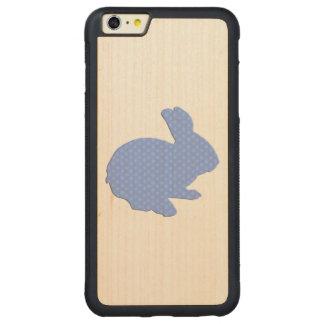 Blue Polka Dot Silhouette Rabbit iPhone 6 Case