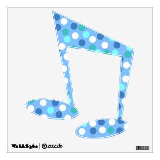 Blue Polka Dot Sixteenth Note Wall Decal