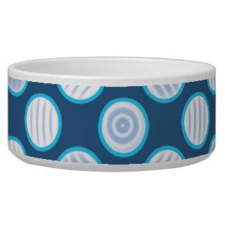 Blue Polka Dot Spiral Bowl