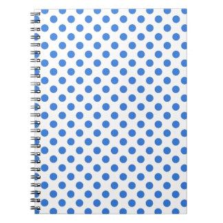Blue Polka Dot Spiral Notebook