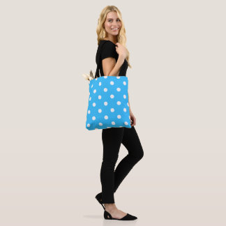 Blue Polka Dot Tote Bag