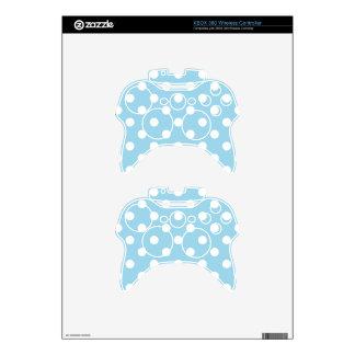 blue ,polka dot,white,cute,girly,trendy,fun,modern xbox 360 controller decal