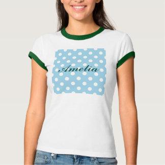 blue ,polka dot,white,cute,girly,trendy,fun,modern tshirts