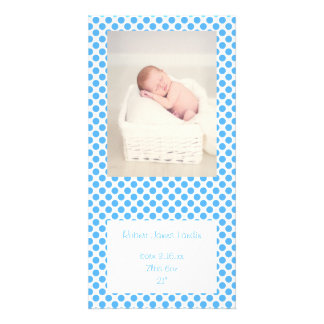 Blue Polka Dots Baby Announcements